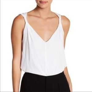 James Perse double layer tank with twisted straps